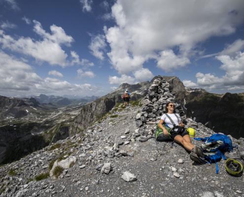 Pause auf dem Klettersteig
